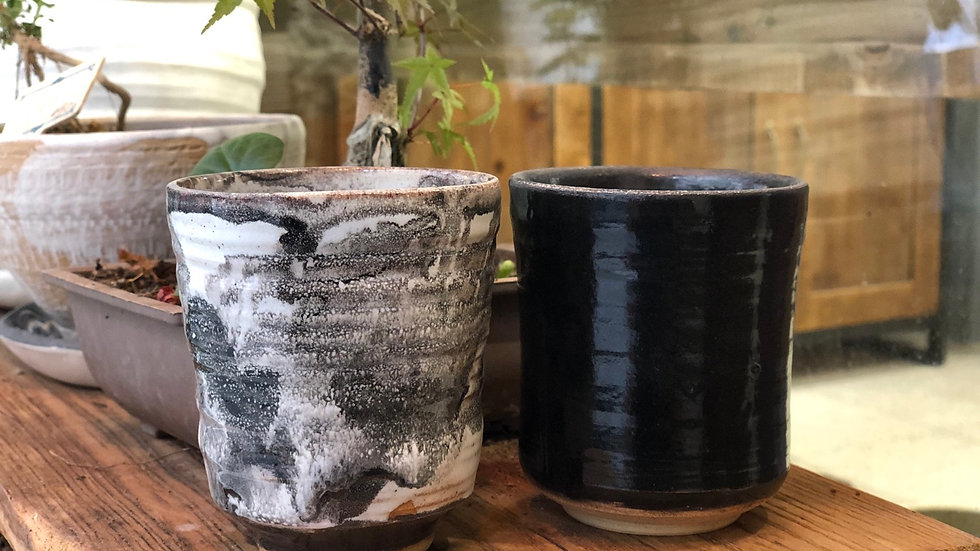 黑白配茶杯Black and white tea cups