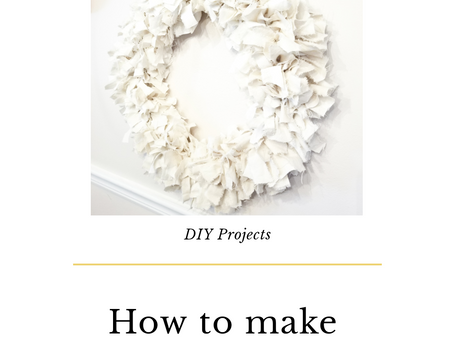 How To Make A Rag Wreath!