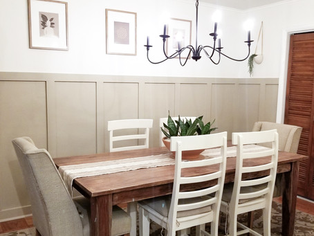 Completed Dining Room Makeover