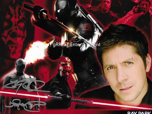 Ray Park autographed 10 in x 8 in photo