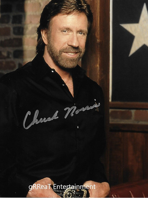 Chuck Norris autographed 8 in x 10 in photo