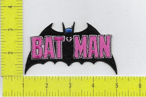 Batman Name and Cape Logo Patch
