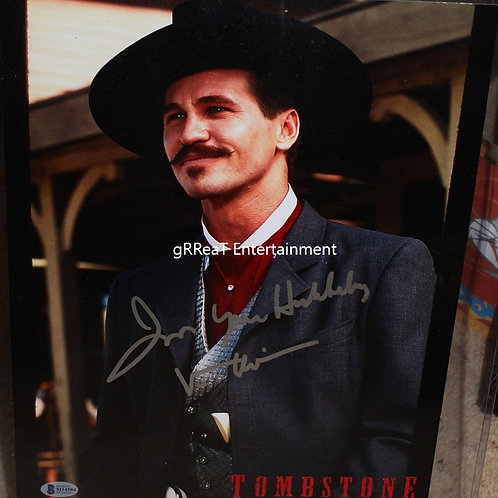 Val Kilmer autographed 11 in x 14 in photo