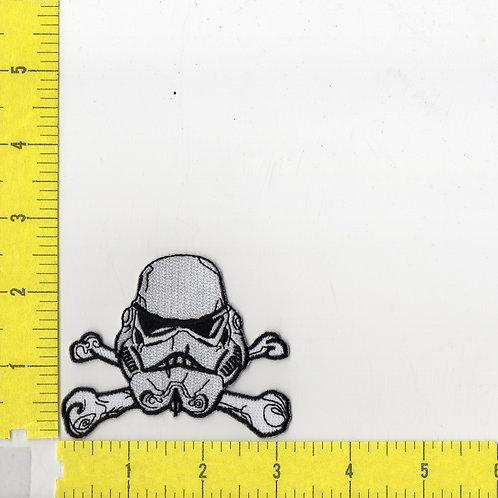 Star Wars: Storm Trooper Helmet Crossed Bones Patch