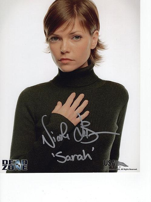 Nicole de Boer autographed 8 in x 10 in photo