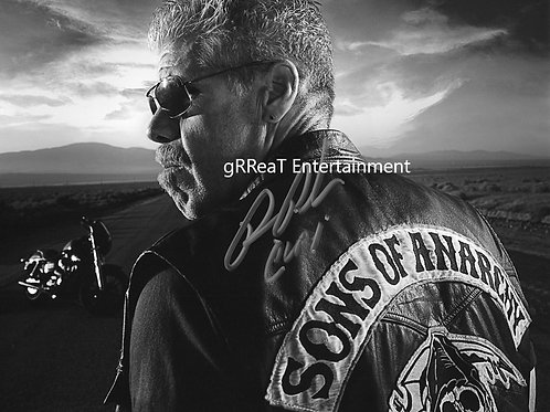 Ron Perlman autographed 10 in x  8 in photo