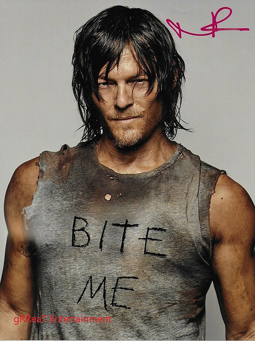 Norman Reedus autographed 8 in x 10 in photo