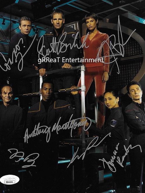 Star Trek: Enterprise Cast autographed 8 in x 10 in photo