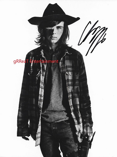 Chandler Riggs autographed 8 in x 10 in photo