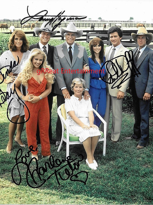 Dallas 4 Signatures autographed 8 in x 10 in photo