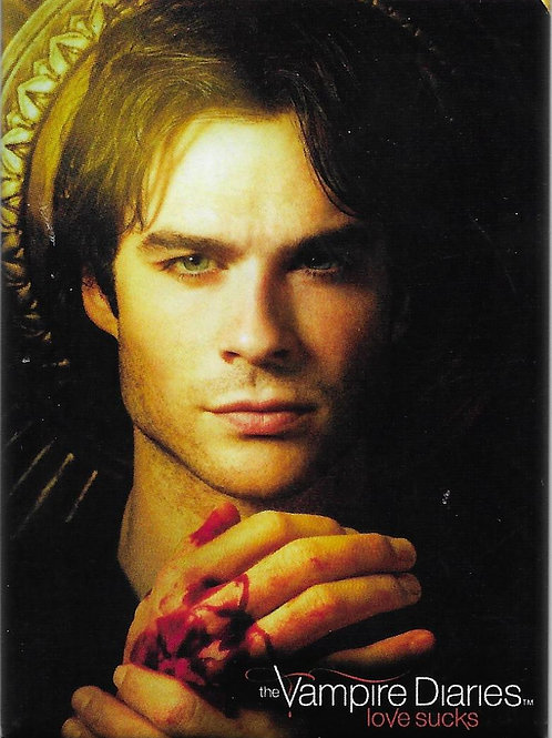 The Vampire Diaries: Damon  holding his bloody hand. RETIRED