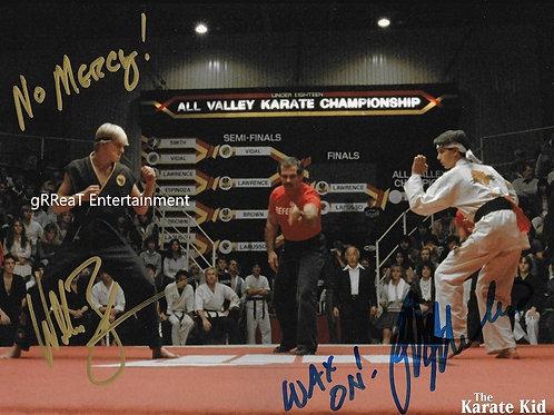 William Zabka and Ralph Macchio autographed 10 in x  8 in photo