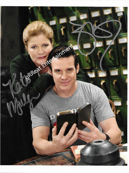 Eddie McClintock and Kate Mulgrew autographed 8 in x 10 in photo