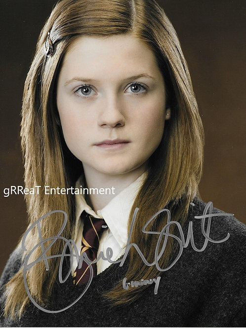 Bonnie Wright autographed 8 in x 10 in photo