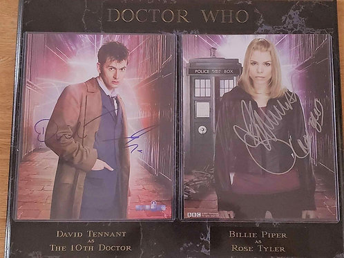 Doctor Who: Tennant/Piper Double Black Marble Plaque