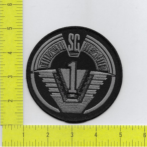 Stargate SG-1: TV Series Logo Lg Black and Silver