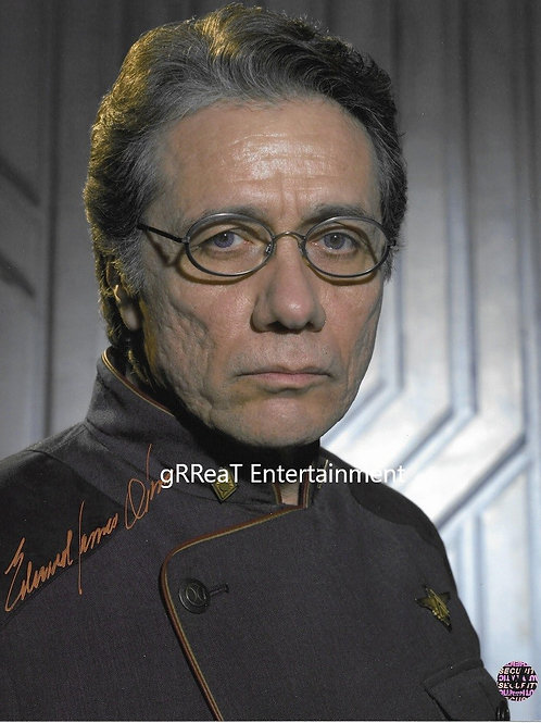 Edward James Olmos autographed 8 in x 10 in photo