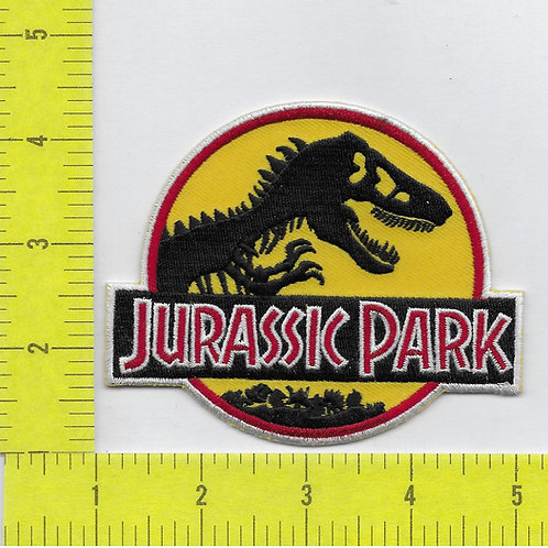 Classic Jurassic Park Movie Logo Patch with white borders