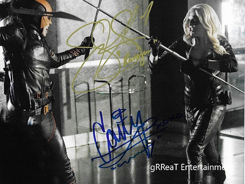 Summer Glau and Caity Lotz autographed 10 in x 8 in. Photo