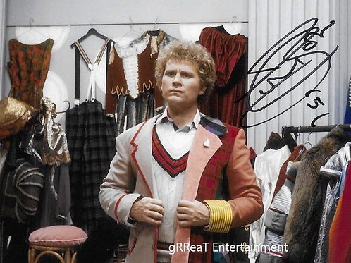 Colin Baker autographed 10 in x 8 in photo