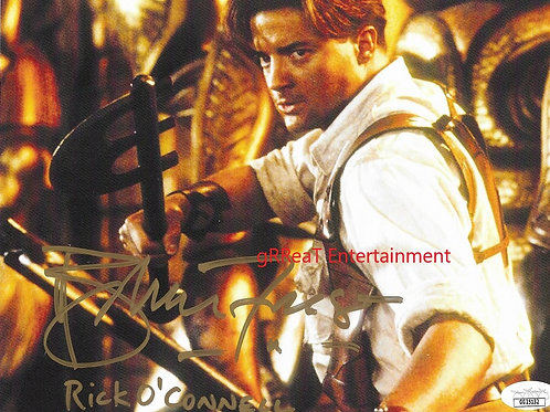 Brendan Fraser autographed 10 in x 8 in photo