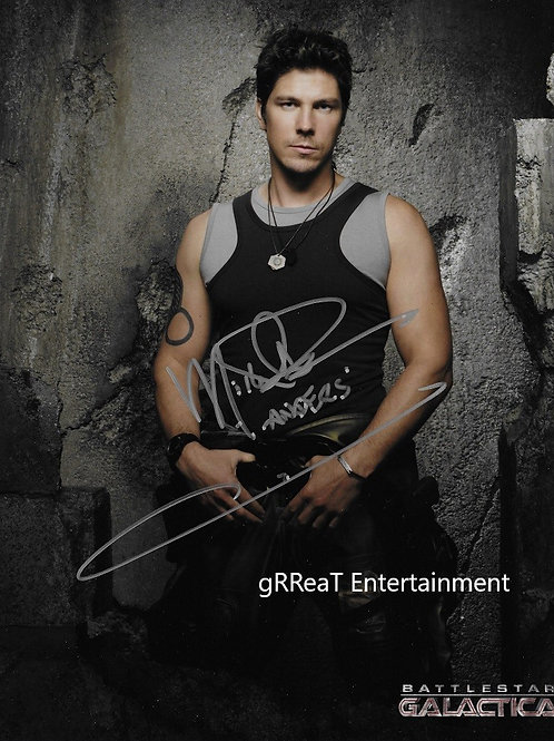 Michael Trucco autographed 8 in x 10 in. Photo