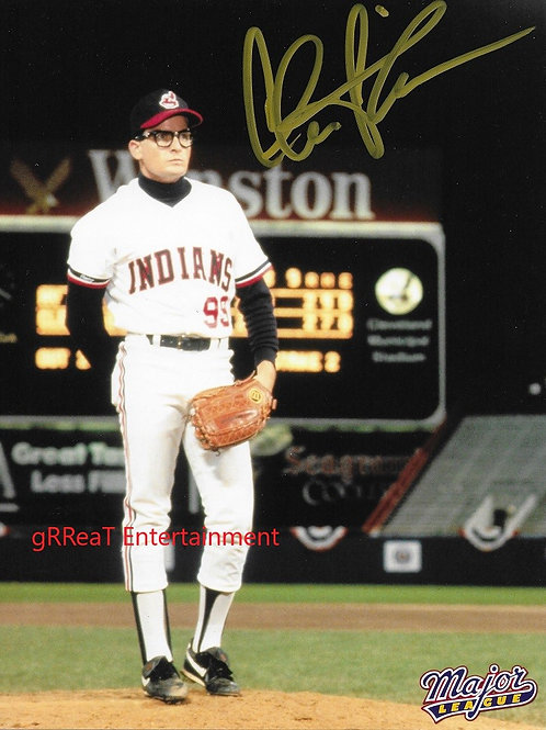 Charlie Sheen autographed 8 in x 10 in photo