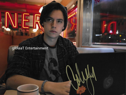 Cole Sprouse autographed 10 in x 8 in photo