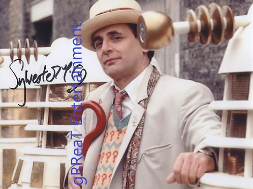 Sylvester McCoy autographed 10 in x 8 in photo