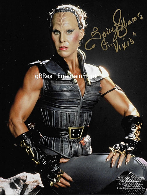 Spice Williams autographed 8 in x 10 in photo