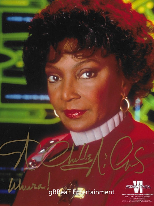 Nichelle Nichols autographed 8 in x 10 in photo
