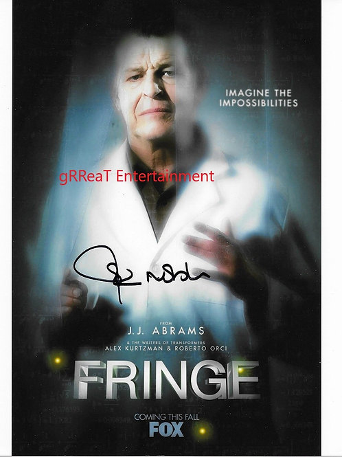 John Noble autographed 8 in x 10 in. Photo