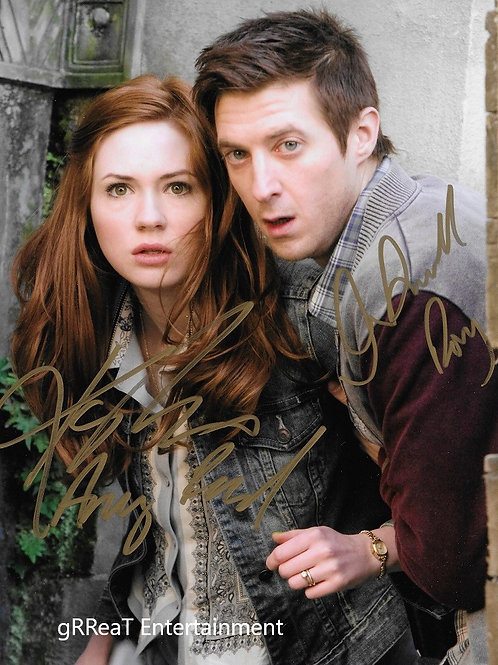Karen Gillan and Arthur Darvill autographed 8 in x 10 in. Photo