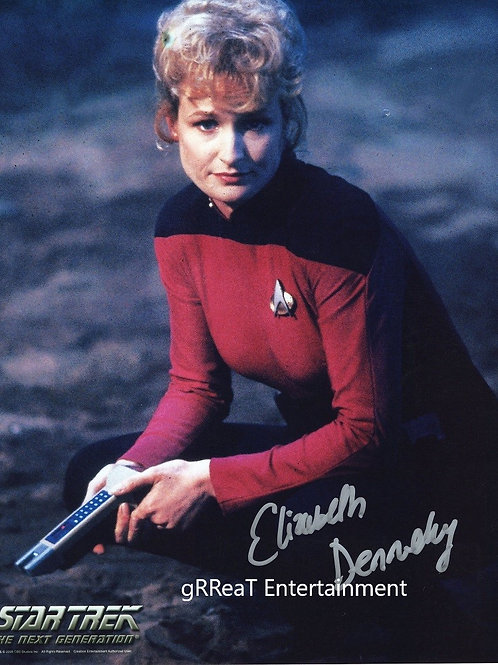 Elizabeth Dennehy autographed 8 in x 10 in photo