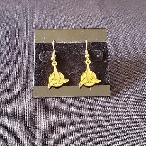 Star Trek: Klingon Emblem Gold Colored Earrings