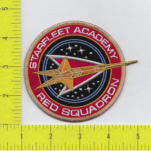 Star Trek:  Starfleet Academy Red Squadron Patch Lt Color Border