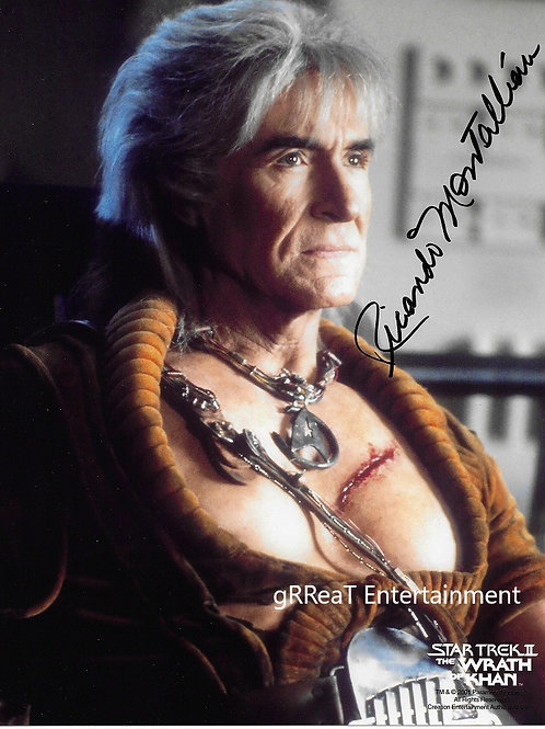 Ricardo Montalban Autographed 8 in x 10 in. Photo