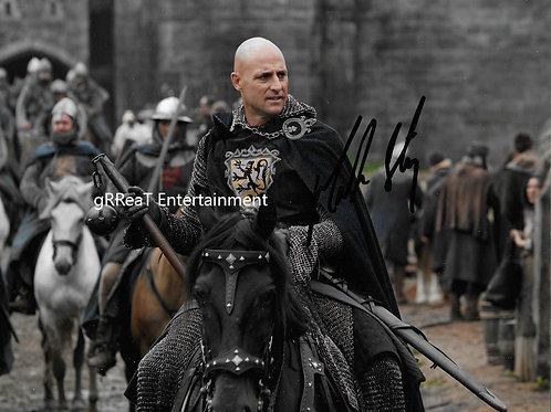 Mark Strong autographed 10 in x 8 in photo