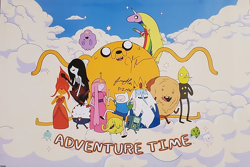 Adventure Time autographed 24 in x 36 in poster