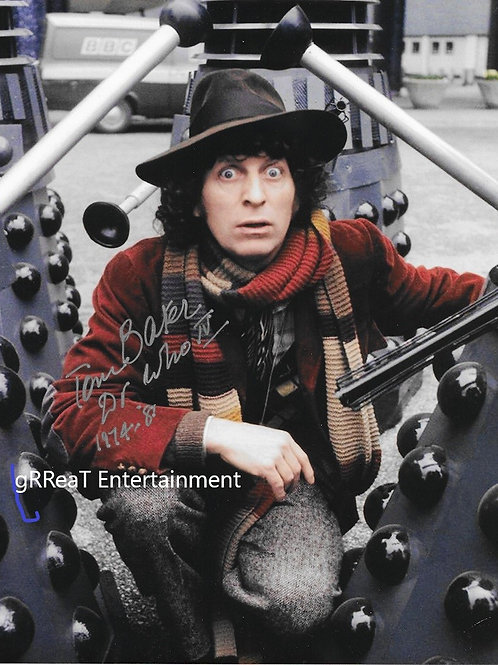 Tom Baker Autographed 8 in x 10 in. Photo