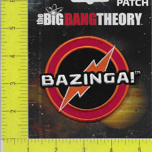 The Big Bang Theory TV Series Bazinga! Name Logo Patch