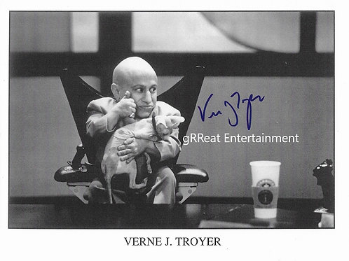 Verne J. Troyer Autographed 10in x 8in. Photo