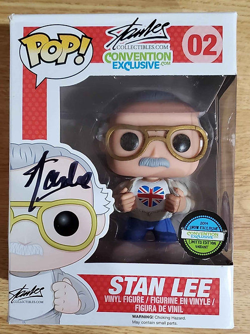 Autographed Stan Lee UK POP (Variant Pop 02 Limited to 1000)