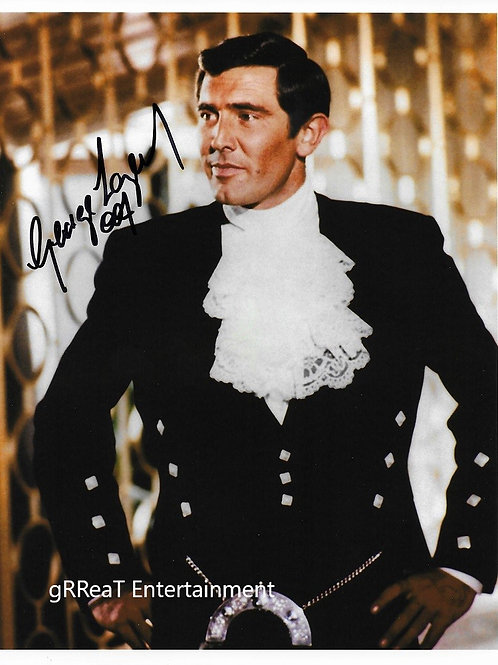 George Lazenby autographed 8 in x 10 in. Photo