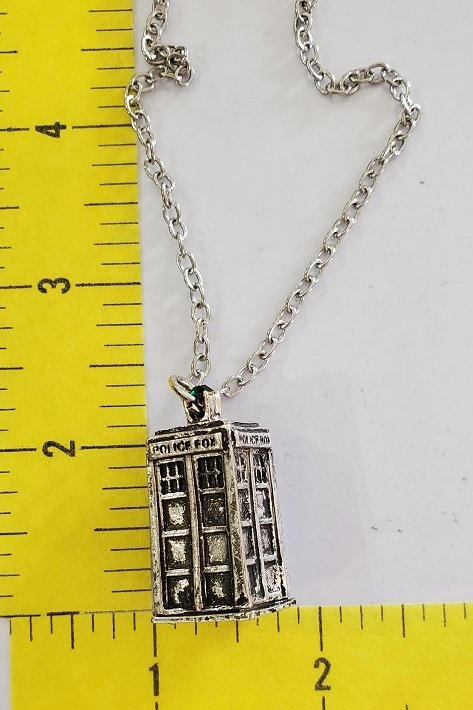 Doctor Who Tardis Necklace - Metal