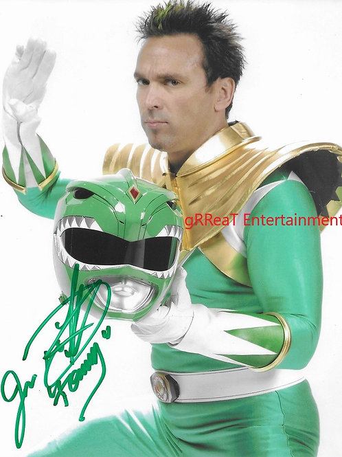 Jason David Frank autographed 8 in x 10 in. Photo