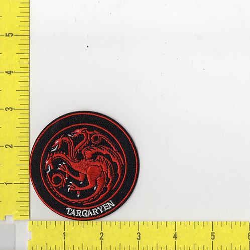 Game of Thrones: House Targaryen Dragon Sigil Logo Patch