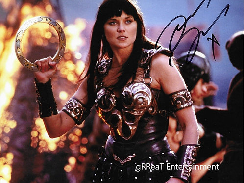 Lucy Lawless autographed 10 in x 8 in. Photo