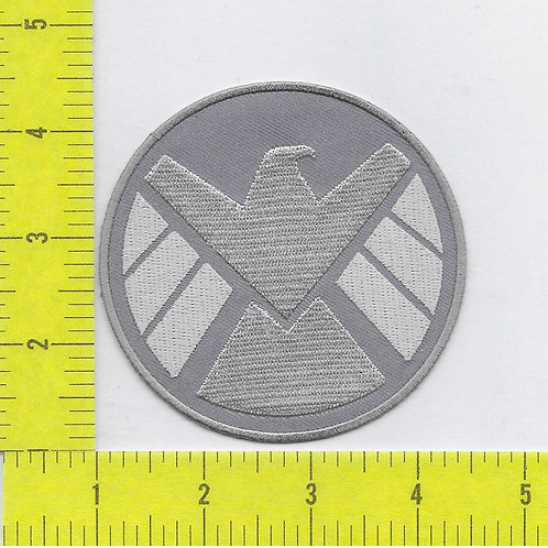 Agents of S.H.I.E.L.D. TV series Silver and Grey Logo Right Facing Patch