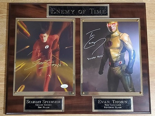 Enemy of Time Double Cherry Autographed Plaque